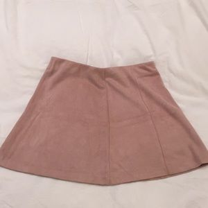 Suede pink skirt, Plato's Closet